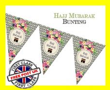 Hajj Mubarak Bunting HJ3 Religion & Festival Islamic Decorate, Decorations ROSE